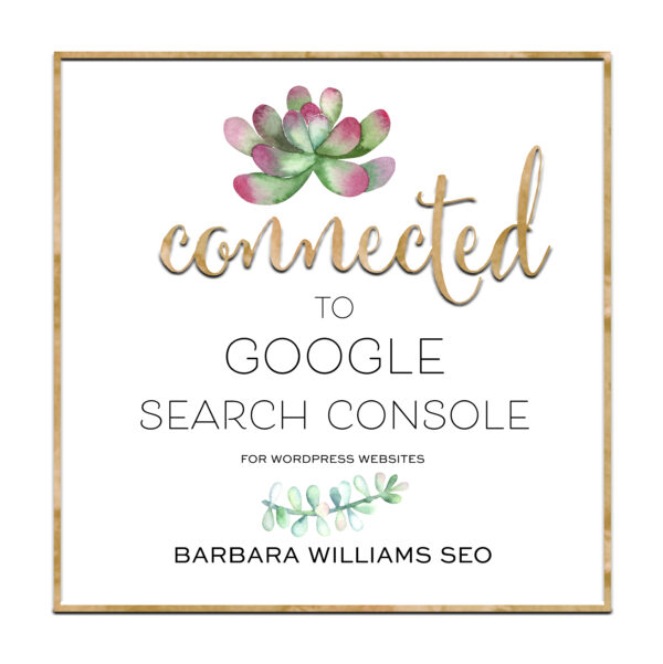 connected google search console bronze seo