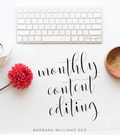 Barbara Williams SEO monthly content editing