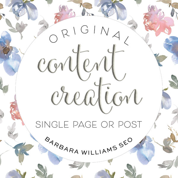 content creation content writing single page