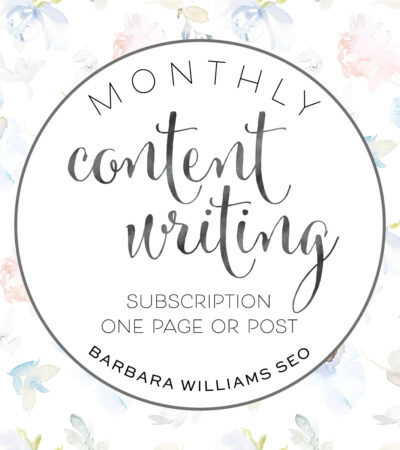 monthly content writing one page subscription